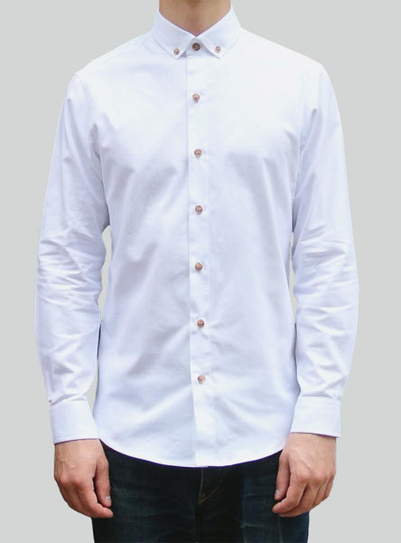 Shirting by The Sock Hop - White Oxford