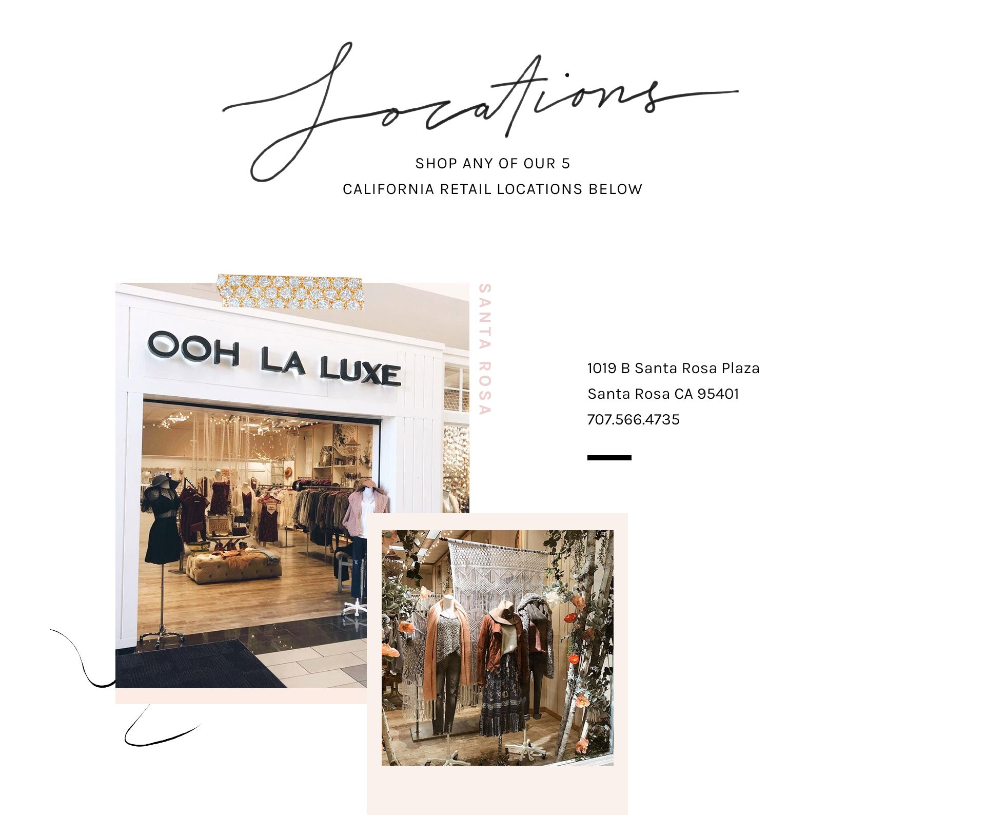 843988a9ab9 Store Locations for Women s Fashion Clothing – Ooh La Luxe