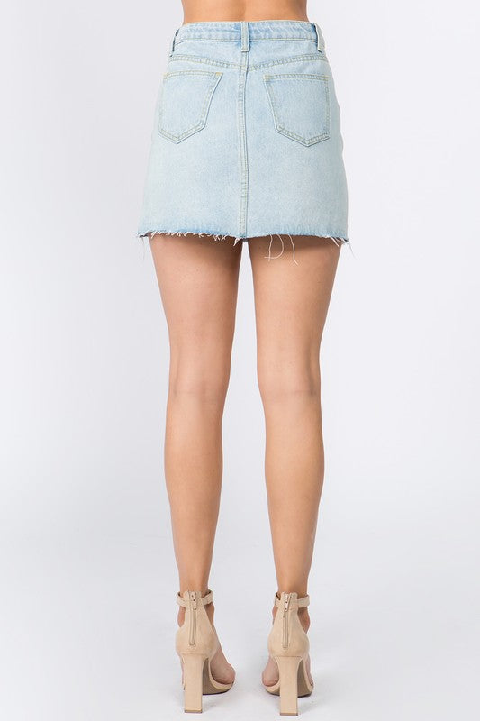Lux Denim Skirt