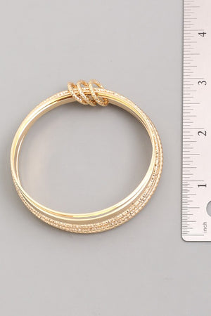 Jenna Gold Bangle Set