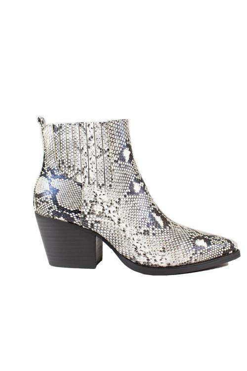 Faith Snakeskin Bootie