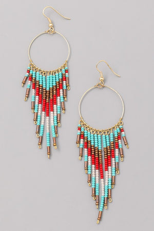 Arabian Bead Earrings Turquoise