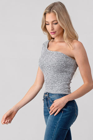 Clarey One Shoulder Top
