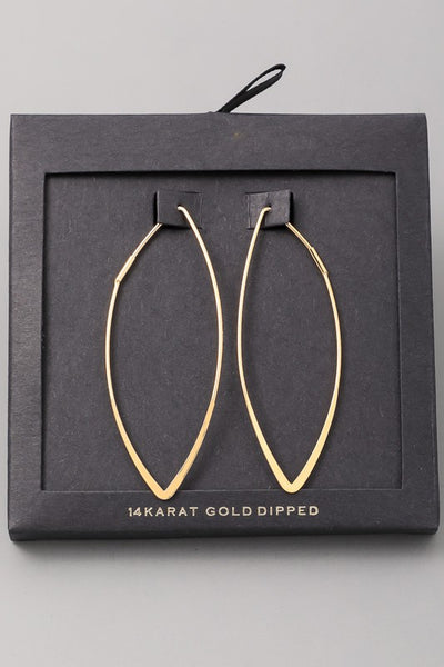 Loraine Teardrop Earrings Gold