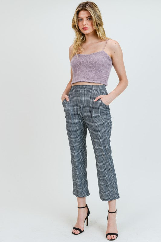 Dione Plaid Ankle Pants