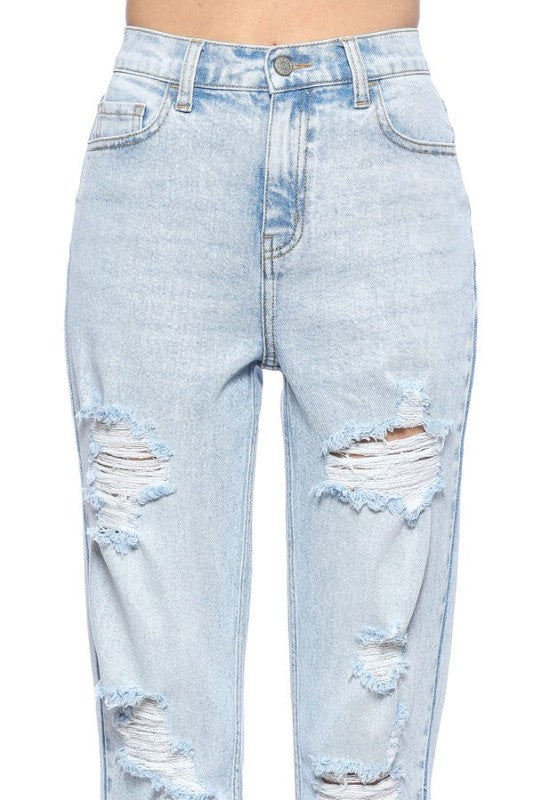 Tana Distressed Mom Jean