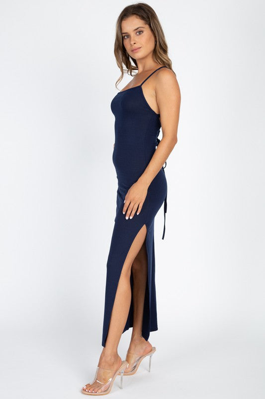 Navy Dreams Midi Dress