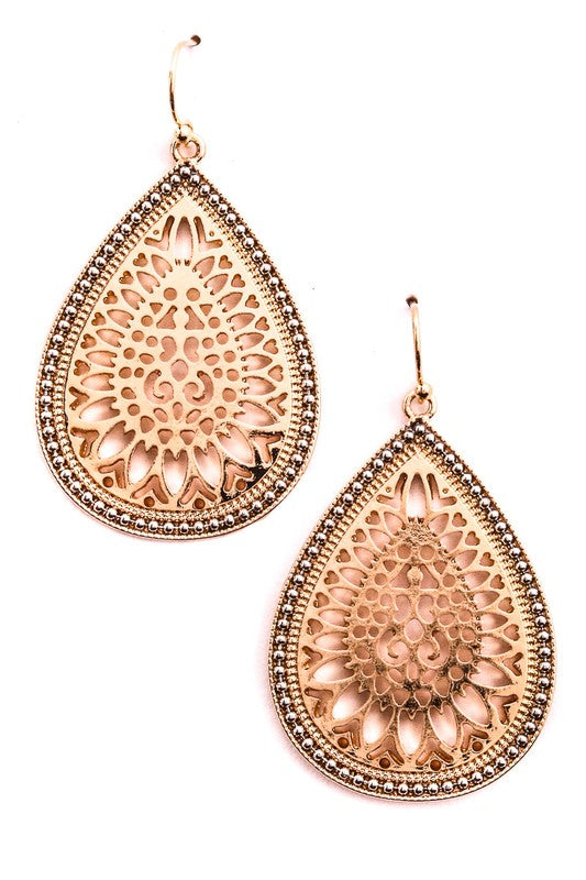 Intricate Teardrop Earrings