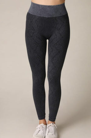 Snake Print Leggings Blue