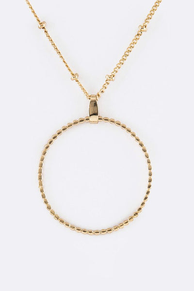 Notched Hoop Necklace