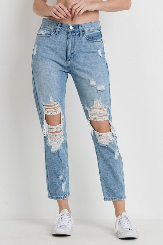 Jonie Distressed Girlfriend Jean