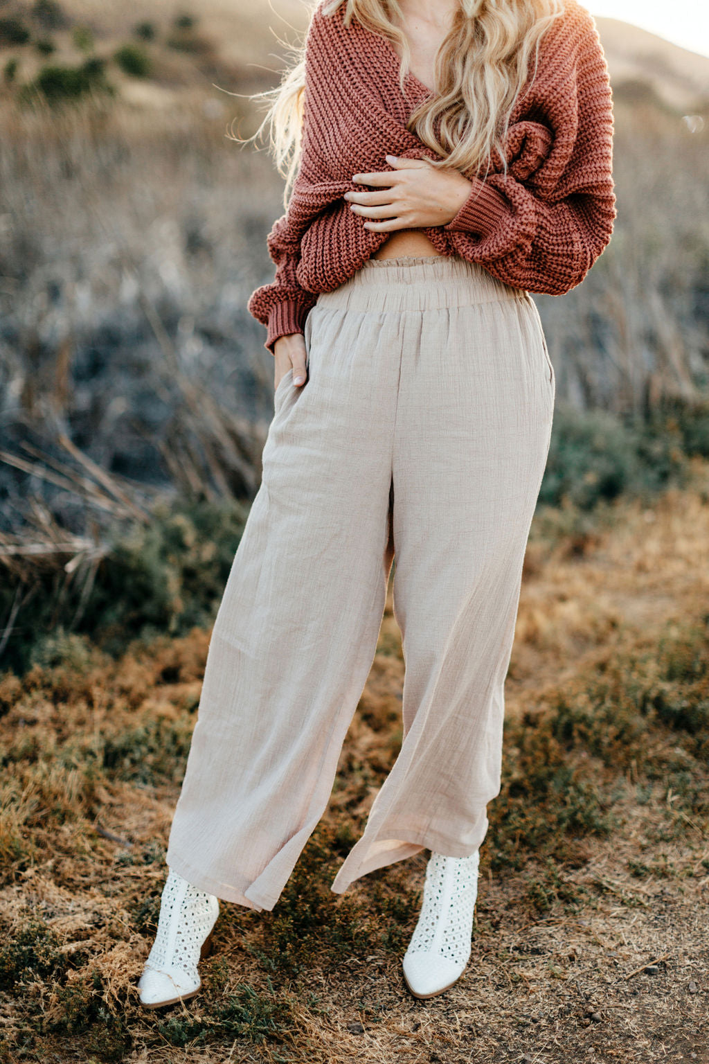 Kristin Cropped Wide Leg Pants