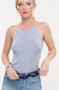 Carli Ribbed Tank Grey