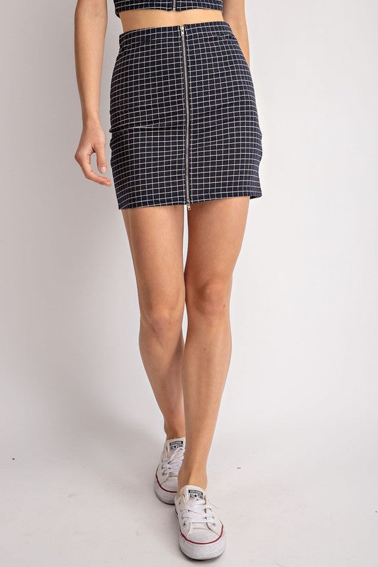 Madison Checkered Skirt