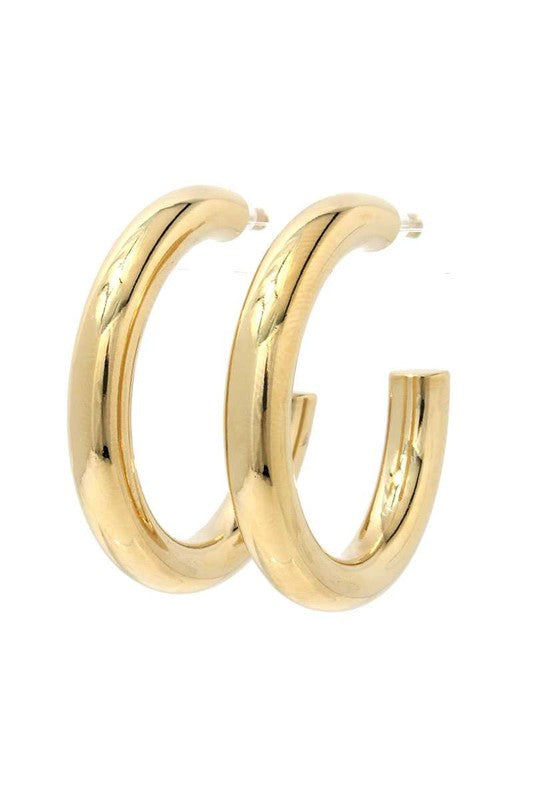 Lani Earrings Gold 1.5""