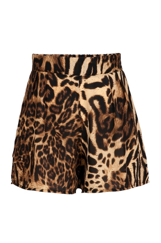 Leopard Sheer Cover Up Shorts