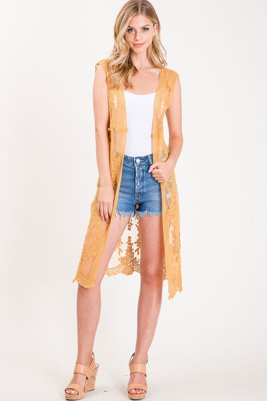 Marigold Lace Duster