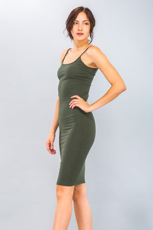 Kaylee Ribbed Dress Olive