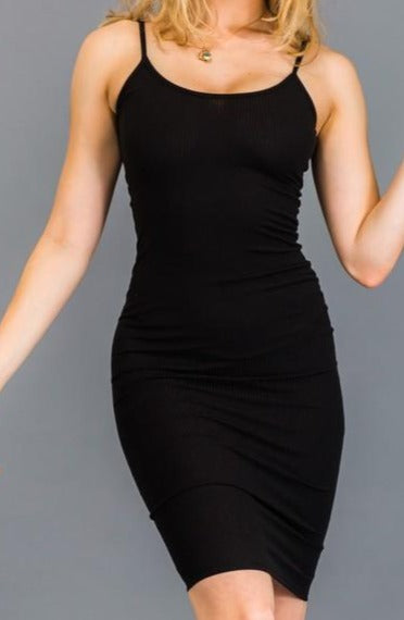 Kaylee Ribbed Dress Black