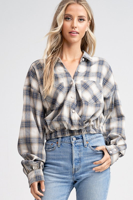 Riley Plaid Top