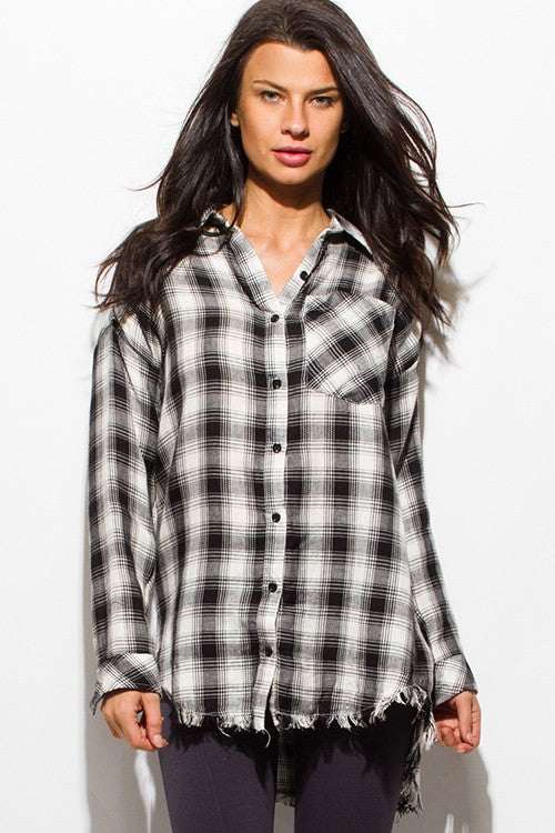 Luna Plaid Top