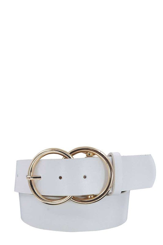 Double Ring Belt White