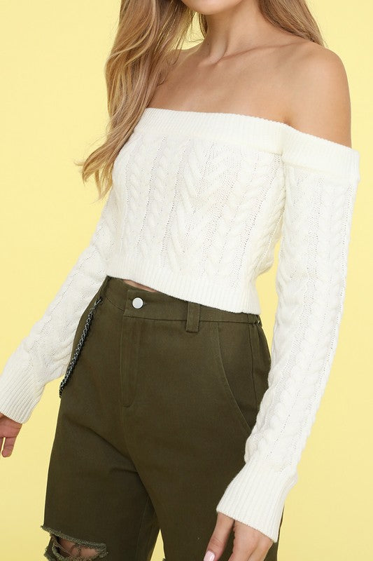 Talia Off the Shoulder Sweater