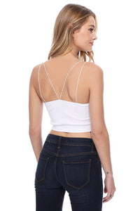 Ribbed Brami Crop Top One Size