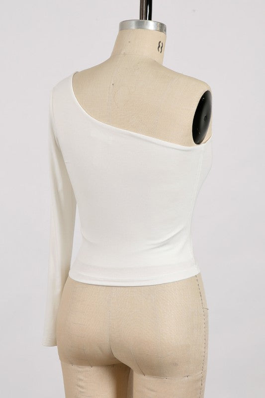 On Trend Top Ivory