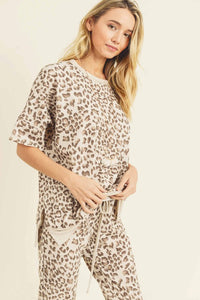 Leopard Lounge Sweater Top