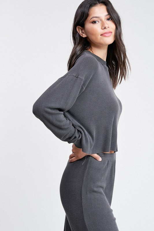 Cropped Mineral Wash Thermal