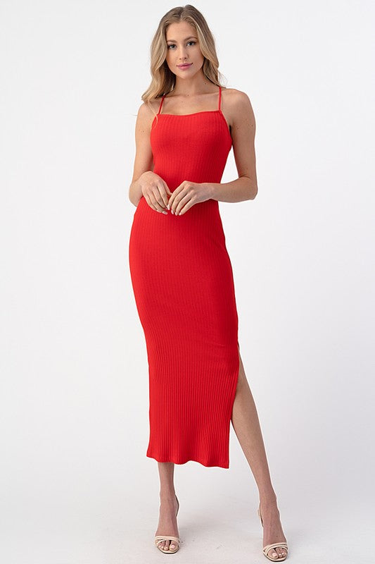 Red Hot Midi Dress