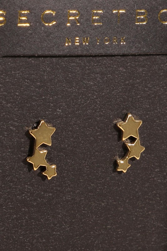 Three Stars Stud Earrings