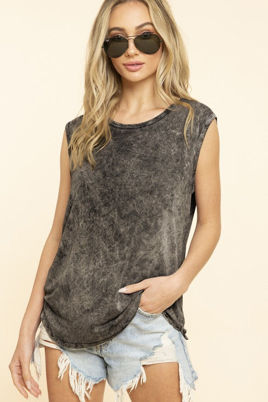 Mineral Wash Muscle Tee