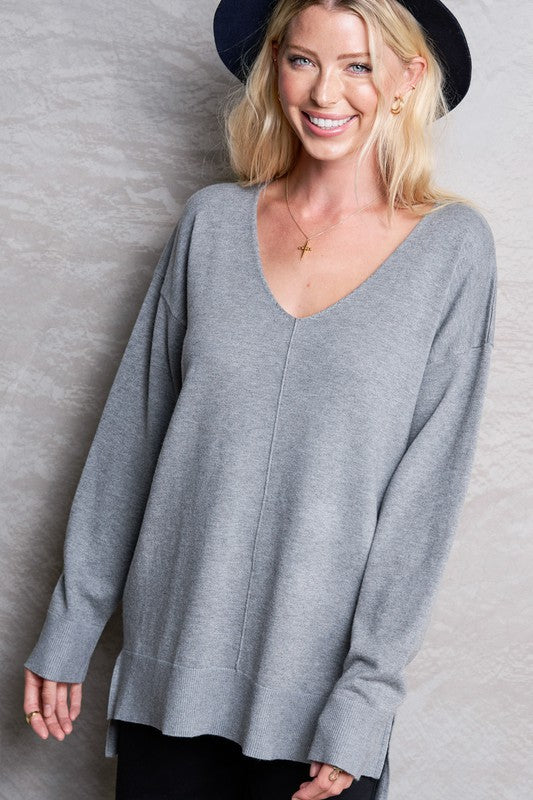 Bree Sweater Heather Grey