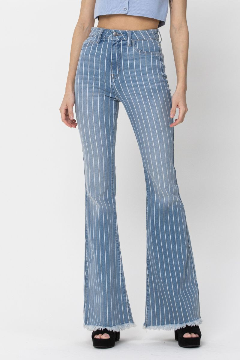 Mila Frayed Bell Bottoms