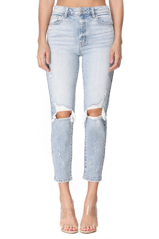 Zara High Rise Mom Jean