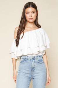 Charmer One Shoulder Ruffle Top