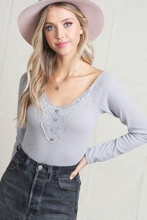 Laura Lace Top Silver