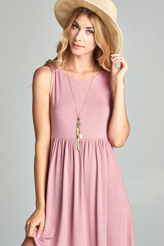 Pia Mini Dress Mauve