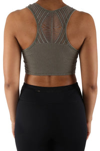 Kimmy Crop Top  Olive