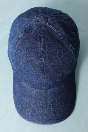 Denim Baseball Cap Dark Blue