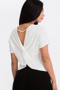 Seville Open Back Top Ivory