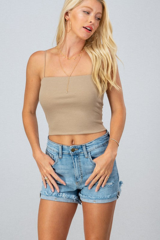 Jaci Crop Top Khaki