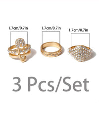 Crystal Ring Set