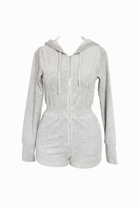 Sasha Lounge Romper Heather Grey
