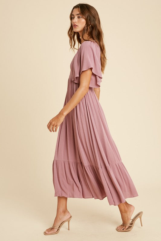 Scarlett Midi Dress Mauve
