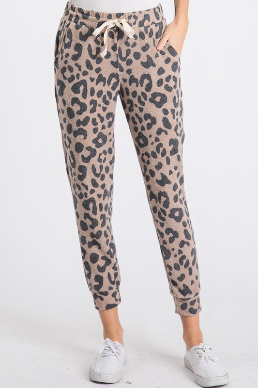 Leopard Brushed Joggers