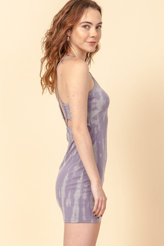 Zoe Tie Dye Dress Lavender