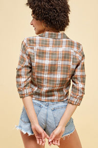 Jupiter Plaid Blouse